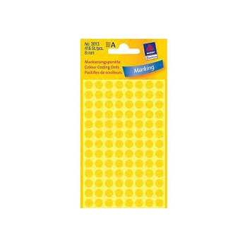 Kleebis Markeerimispunkt Gelb 8mm, kollane