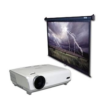 Projektori rent koos ekraaniga