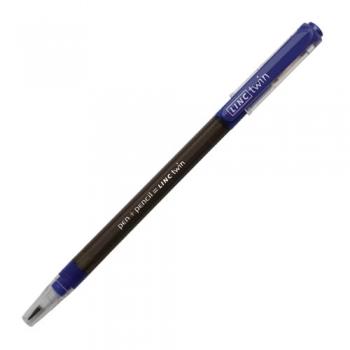 Pastapliiats+harilik pliiats Linc TWIN 0,5 sinine
