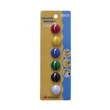 Tahvlimagnet SRH-20 värvilised 6tk