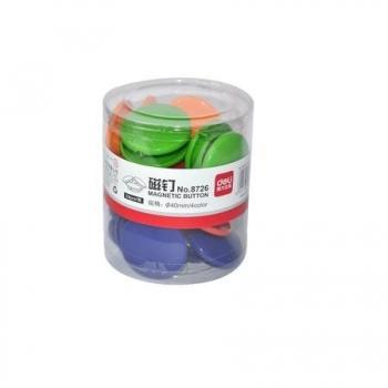 Magnetid Deli 24tk/pk, ümarad D40mm eri värvid