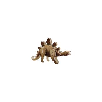 Puidust värviline 3D puzzle Stegosaurus