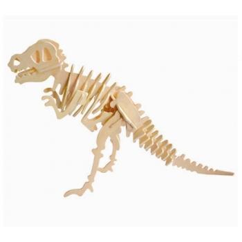Puidust 3D puzzle T-Rex+värvid