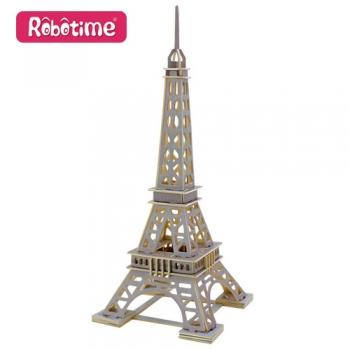 Puidust 3D puzzle Eiffeli torn