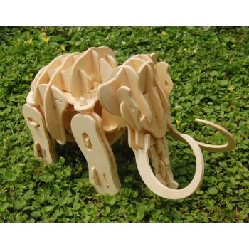 Puidust elektriline 3D puzzle robot Mammut