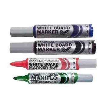 Valge tahvli marker Pentel Maxiflo MWL5M, kooniline punane