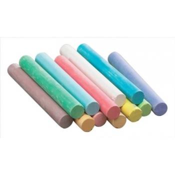 Kriit Dustless 12tk/pk värviline