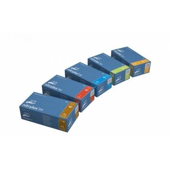 Ühekordsed kindad Nitriilkinnas Nitrylex PF puudrita, sinised L 200tk/pk(kummikindad)
