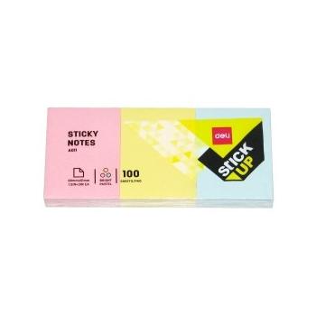 Märkmepaber Deli 38x51mm. värviline 3tk.pakis