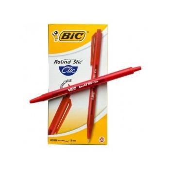 Pastapliiats BIC Round Stic Clic 1,0mm punane