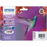 Tint Epson T0807 Stylus Photo R265/ 360/ RX560, multipack 6x7,4ml
