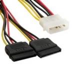Kaabel  4World Power Cable MOLEX- 2x SATA F/M 20cm