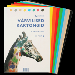 Värviline paber Kaskad A3/225g. 8värvi / 8lehte