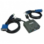 Edimax 2 Port USB/PS2 KVM Switch with building cable and audio