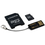 Mälukaart Kingston 16GB MicroSDHC class10, USB2.0 lugeja, SD adapter