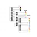 Vahelehed A4 1-12/JAN-DEC värvilised