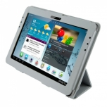 Tahvelarvuti kaaned  4World Protective Case/Stand for Galaxy Tab 2, Folded Case, 10'', grey