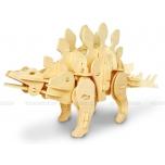 Puidust heliga juhitav 3D puzzle robot Mini Stegosaurus