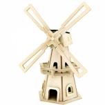 Puidust päikesepatareiga 3D puzzle Tuuleveski
