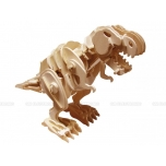 Puidust puldiga juhitav kokkupandud 3D puzzle robot T-Rex suur