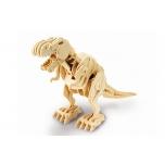 Puidust puldiga juhitav kokkupandud 3D puzzle robot T-Rex Mini