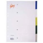 Vahelehed A4 plast, 1-5 värviline
