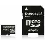 Mälukaart Transcend memory card Micro SDHC 4GB Class 10