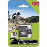 Mälukaart Integral micro SDHC/SDXC 64GB (for action cameras)+ SD Adptr