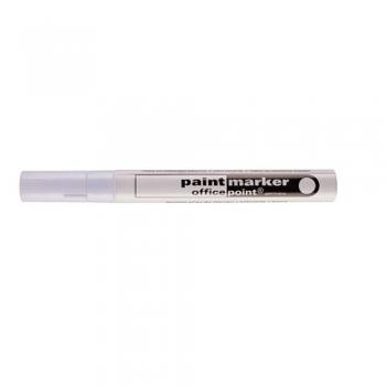 Marker Office Point, permanentne, 2-4mm valge