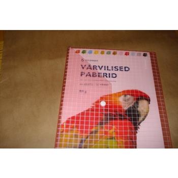 Värvilise paberi komplekt trukiga kotis 35 lehte/80g.13 värvi