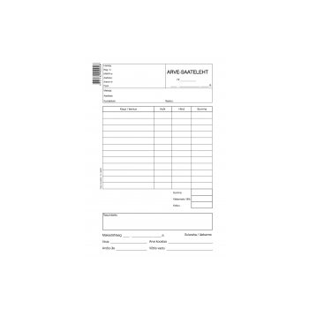 Blankett Arve-Saateleht A5  100lehte, paber