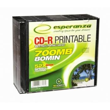 CD-R Esperanza 700MB 52X, prinditav