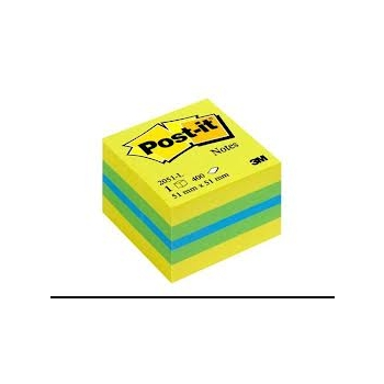 Märkmepaber 3M Post-it 51x51 400L, Lemon