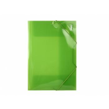Nurgakummiga plastmapp Deli A4 eri värvid