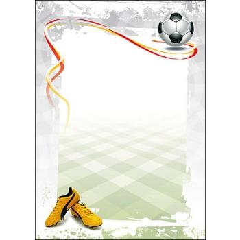 Dekoratiivpaber A4/170g, 25 lk/pk Football
