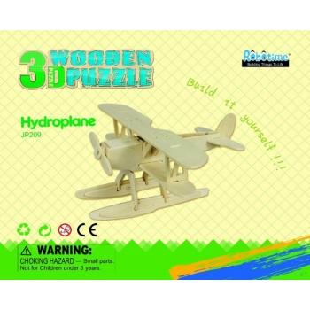 Puidust 3D puzzle Hüdroplaan