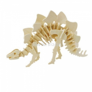 Puidust 3D puzzle Stegeosaurus
