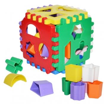 Tegevuskuubik lastele 13x13x13cm.