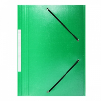 Mapp, nurgakummiga, kartong, roheline