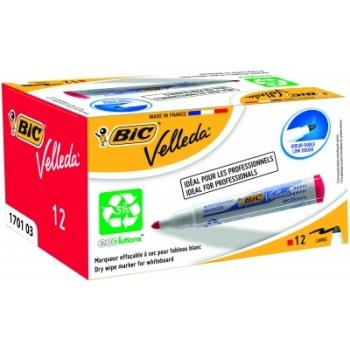 Valgetahvli marker BIC Velleda, 1-5mm, punane