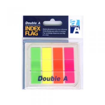 Märkmepaber Double A Index Flag 4värvi  44x12mm dosaatoriga, Full color