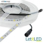 WE Flexible LED Strip 5m cold white 5500-6500K/ LED 5050 30psc/m 7.2W/m 12V DC