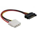 Kaabel  SATA HDD power(M) molex(F) cable 12cm.