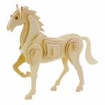 Puidust 3D puzzle Hobune väike