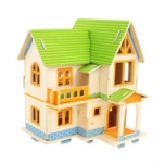 Puidust 3D puzzle Euroopa maja+värvid