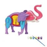 Puidust 3D puzzle Elevant+värvid