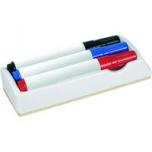 Valge tahvli marker 11XXL 1- 3mm. 3 värvi pakis + tahvlipuhastaja