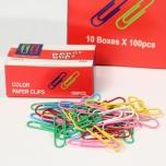 Kirjaklamber 33mm värvilised 100tk/pk