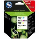 Tint HP 920XL 4-pakk Officejet 6000/ 6500/ 7000