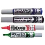 Valge tahvli marker Pentel Maxiflo MWL5M, kooniline roheline